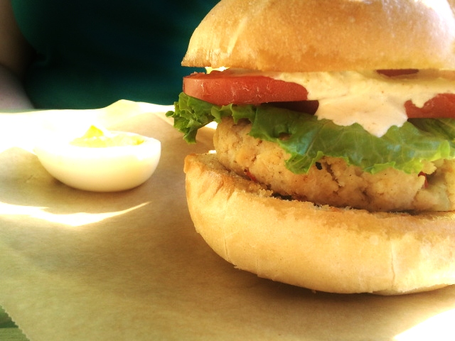 The perfect CrabCake Sandwich!
