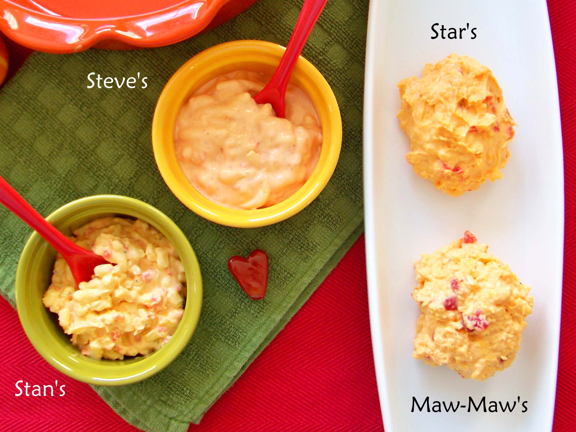 Pimento Cheese Bowls with Names – The Onyx Plate