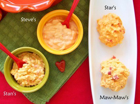 Pimento Cheese Bowls with Names
