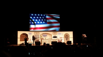 Lee Greenwood's performance was inspiring.