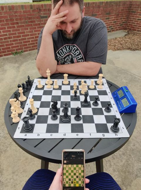 Chris Chess Outside